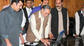 Speaker Gilgit-Baltistan Legislative Assembly, Fida Muhammad Nashad is inaugurating GBLA web-portal